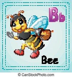 Animals alphabet: B is for Bee