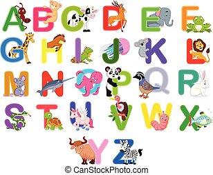 Animals alphabet set