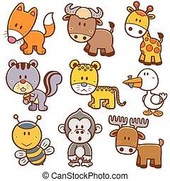Animals - Vector illustration of Animals cartoon