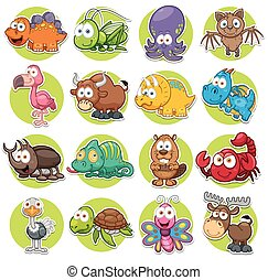 Animals - Vector illustration of Animals set Cartoon