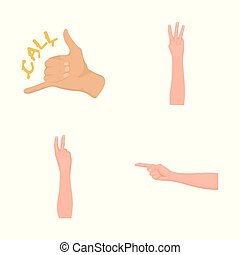 Vector illustration of animated and thumb logo. Collection of animated and gesture stock vector illustration.