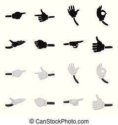 Vector illustration of animation and gestures icon. Collection of animation and information vector icon for stock.