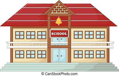 antique school building cartoon