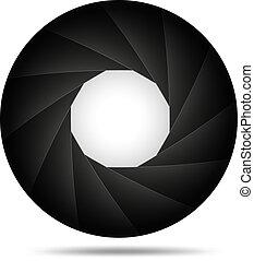 Aperture background - Vector illustration of Aperture ...