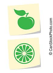 Apple and Orange Icons