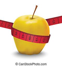 Vector illustration of apple