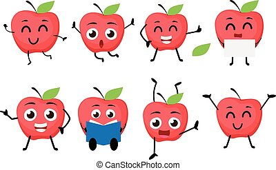 Apple fruits Cartoon character
