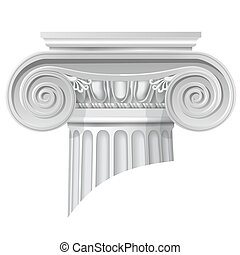 classical order ionic capital - Vector illustration of...