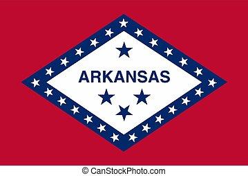 Vector Illustration of Arkansas state flag