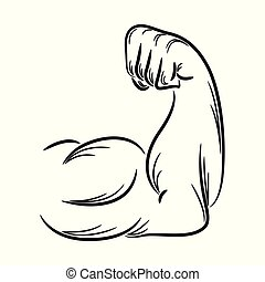 Arm muscle icon