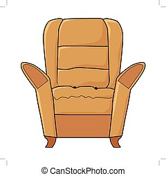 vector illustration of armchair, part of interior