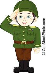 army soldier boy posing