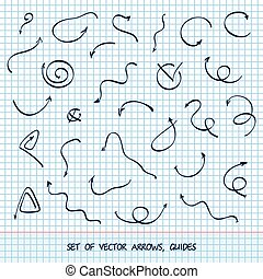 Vector illustration of arrows drawn by hand