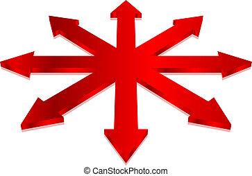 Vector illustration of arrows