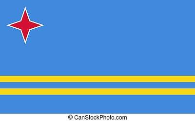 Vector Illustration of Aruba Flag