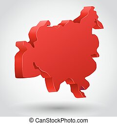 Vector illustration of asia continent