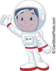 Astronaut cartoon - Vector illustration of Astronaut cartoon...