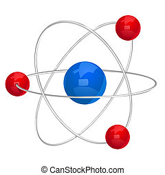 Vector illustration of atom