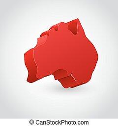 Vector illustration of australia continent