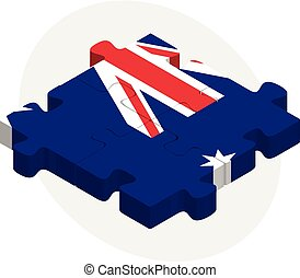 Australia Flag in puzzle - Vector illustration of Australia...