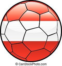 Austria flag on soccer ball