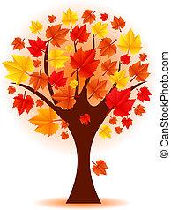 Vector illustration of autumn tree