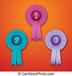 Award Ribbons - Vector Illustration of Award Ribbons (eps...