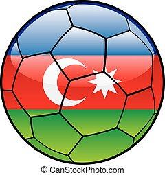 Azerbaijan flag on soccer ball