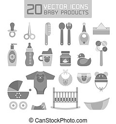 Vector illustration of baby product