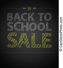Back to school poster with text on
