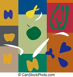 vector illustration of background in the style of Henri Matisse
