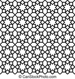 Background with seamless pattern in islamic style - Vector...