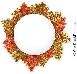 Background with stylized autumn lea