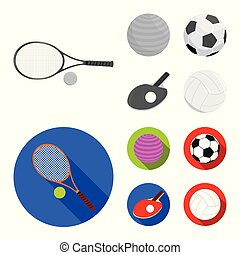 Vector illustration of ball and soccer sign. Set of ball and basketball stock symbol for web.