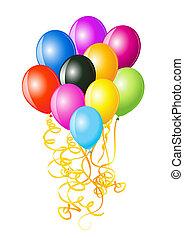 Vector illustration of balloons