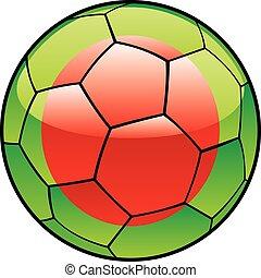 Bangladesh flag on soccer ball