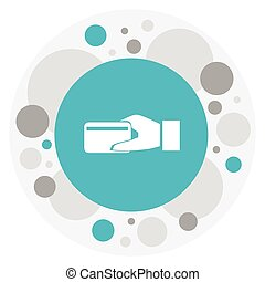 Vector Illustration Of Banking Symbol On Electronic Payment Icon. Premium Quality Isolated Purchase Element In Trendy Flat Style.