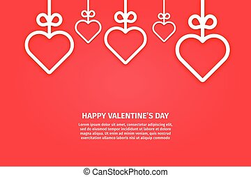 Vector illustration of banner valentines day concept in line style.