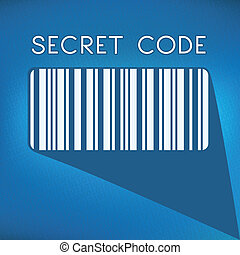 bar code on blue background