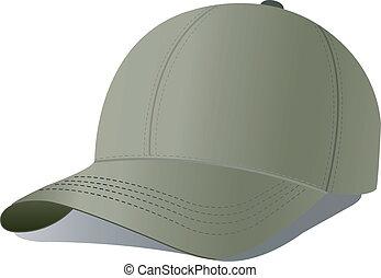 baseball cap.
