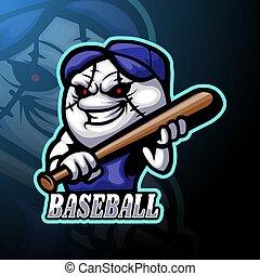 Baseball esport logo mascot design
