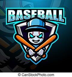Baseball mascot esport logo design