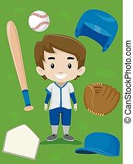 Baseball Player Boy Elements