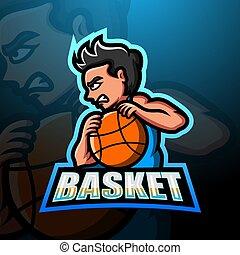 Basketball boy player mascot logo design