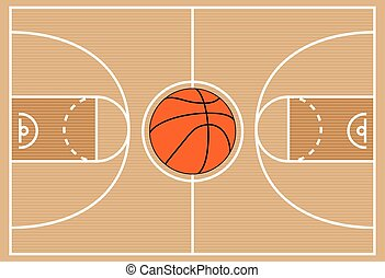 vector illustration of basketball court symbol