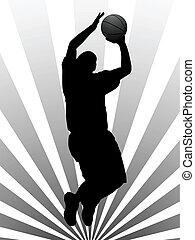 Vector illustration of basketball player