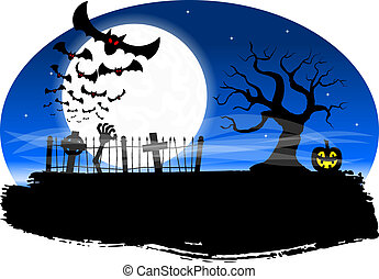 bats against the full moon