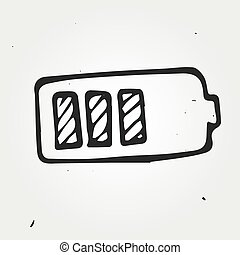 Vector Illustration of battery hand drawn