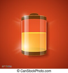Vector illustration of battery level indicator. - Vector...