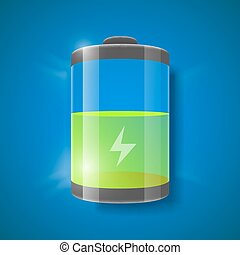 Vector illustration of battery level indicator.